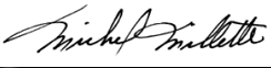 Michel Millette Signature