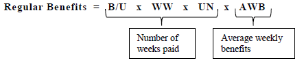 Equation for Regular Benefits T