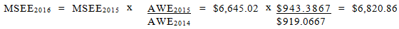 Equation for MSEE