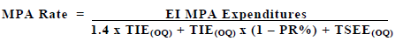 Equation for MPA Rate