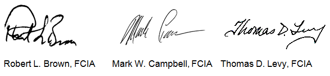 Robert L. Brown, Mark W. Campbell, Thomas D. Levy; Signatures