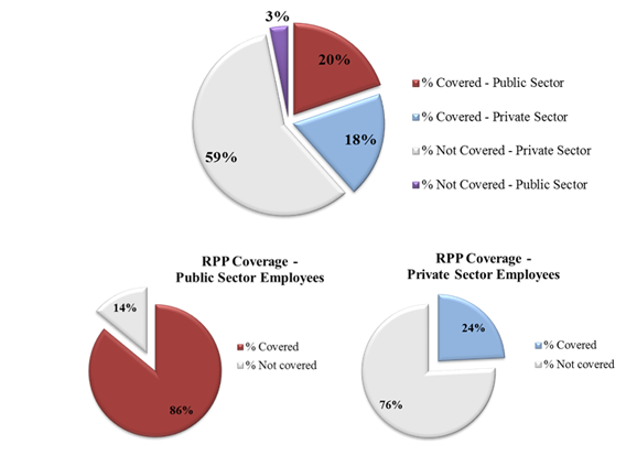 Distribution of Employees in 2012 By Sector and RPP Coverage