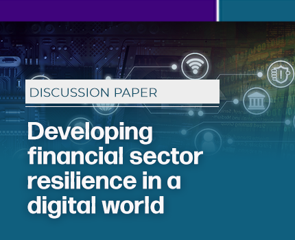 Developing financial sector resilience in a digital world