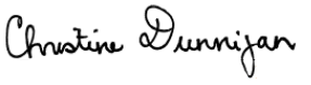 Signature de Christine Dunnigan