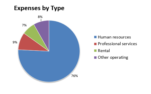Expenses by type